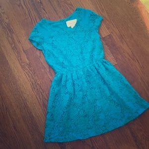 Urban Outfitters coincidence & chance teal dress
